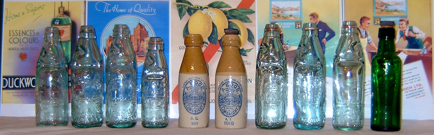 A selection of old Edge pop bottles.